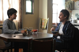 HANDOUT IMAGE: Still of Ethan Hawke and Asa Butterfield in 10,000 Saints (2015). © 2014 - The Solution Entertainment Group. Photo by Photo by JOJO WHILDEN/Screen Media Films/The Solution Entertainment Group